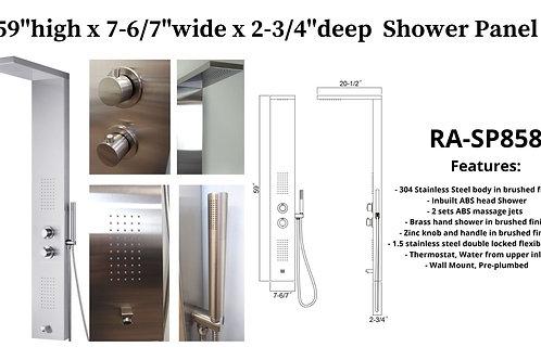 """59"""" x 7-6/7"""" x 2-3/4"""" Shower Panel w/ 2 ABS massage Jets"""