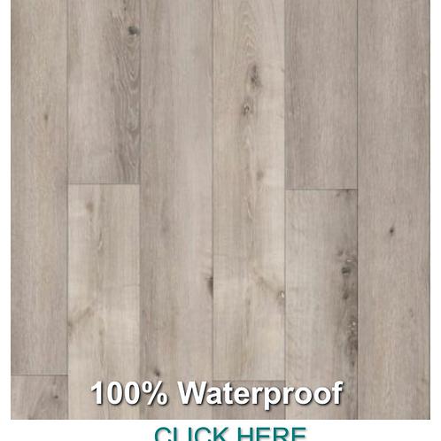 101-6 Coastal Grey Rigid Core Plus Series Vinyl Click 100% Waterproof