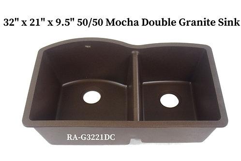 60/40 Mocha Double Granite Sink