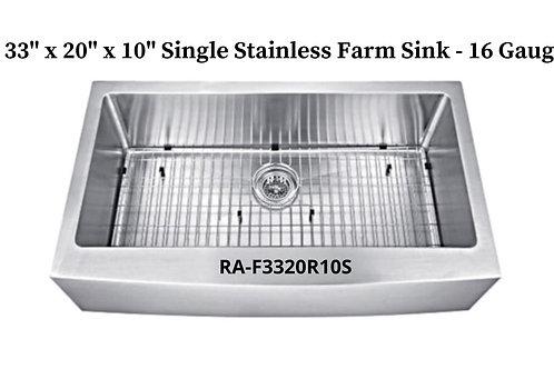 16g Stainless Single Handmade Farm Sink