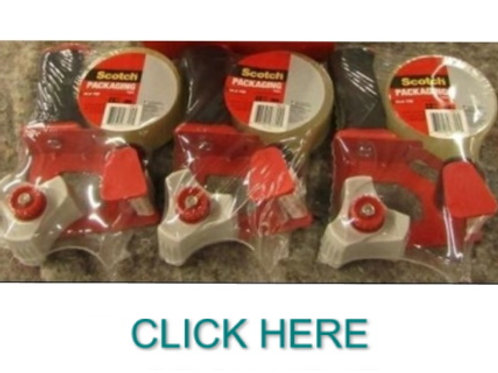 Set Of 3 Heavy Duty Packing Tape Rollers