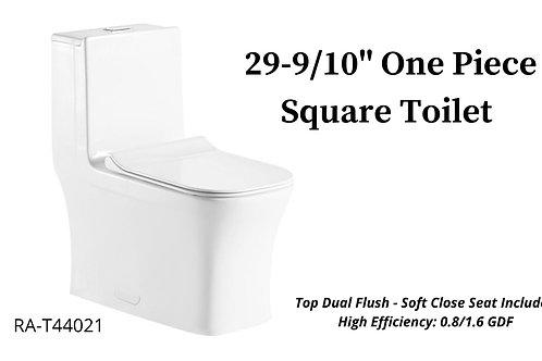"29-9/10"" One Piece Square Toilet"