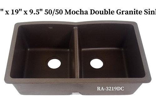 50/50 Mocha Double Granite Sink