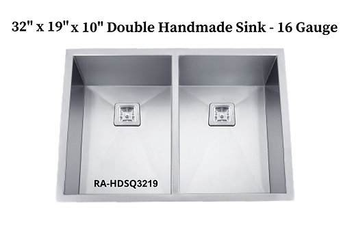 16g Stainless Double Handmade Sink