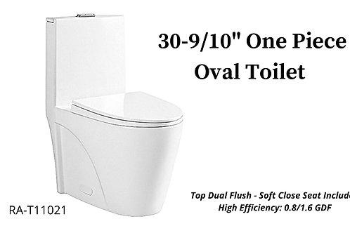 "30-9/10"" One Piece Oval Toilet"