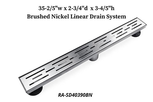 """35-2/5"""" Brushed Nickel Linear Drain System"""
