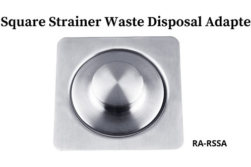 Square Strainer Waste Disposal Adapter