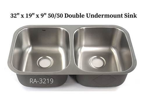 18g Stainless Double 50/50 Undermount Sink