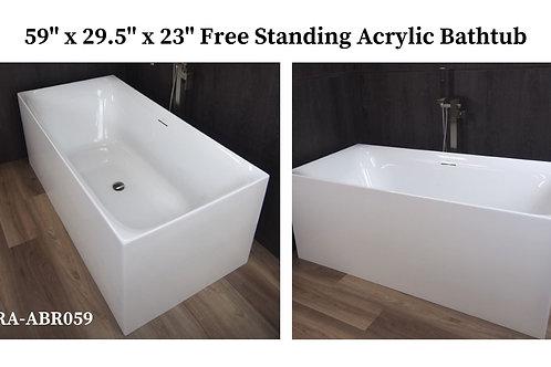 """59"""" x 29.5"""" x 23"""" Free Standing Acrylic Tub"""