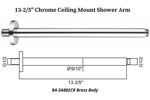 "13-2/5"" Chrome Ceiling Mount Round shower Arm"