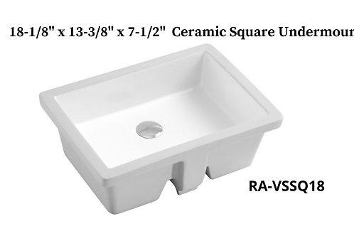 Ceramic Undermount Square Sink