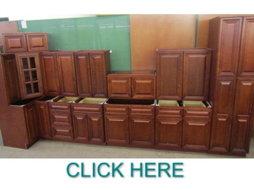 13pc. 10'x1' Grand Reserve Cherry  Kitchen Cabinet Set