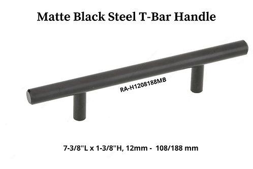 Matte Black Steel T-Bar Handle