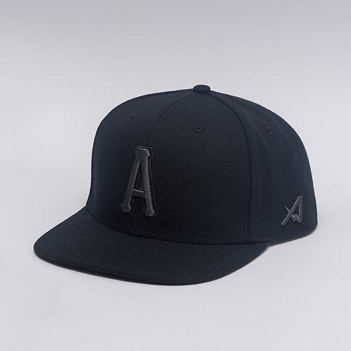 A Black/Grey Flat Cap