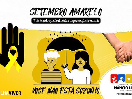 Setembro amarelo: agir salva vidas, combate ao suicídio, pela valorização da vida