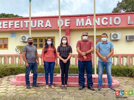 Prefeito Isaac Lima recebe visita da Senadora Mailza Gomes