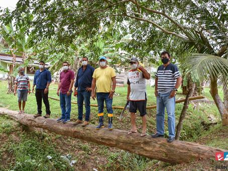 Prefeito em exercício Renan Costa realiza visita técnica em local onde serão construídas duas pontes