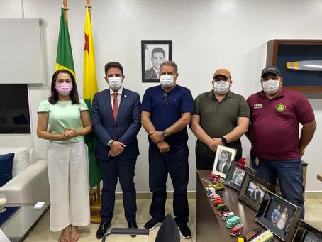 Prefeito Isaac Lima se reúne com Governador Gladson Cameli e Senadora Mailza Gomes