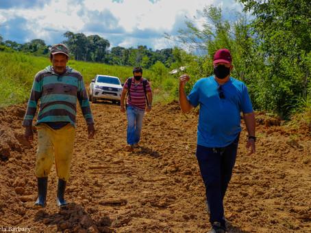Em Mâncio Lima Prefeito Isaac Lima inicia recuperação de ramais com recursos próprios.