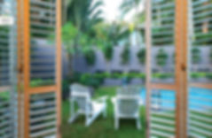 Big Sky Room | Exterior Plantation Shutters | Lockable and Secure