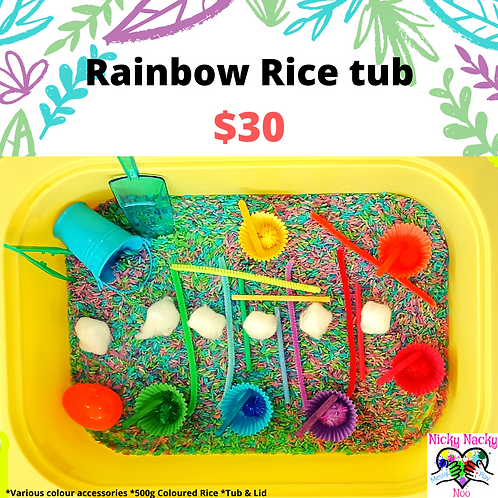 Rainbow Rice Tub