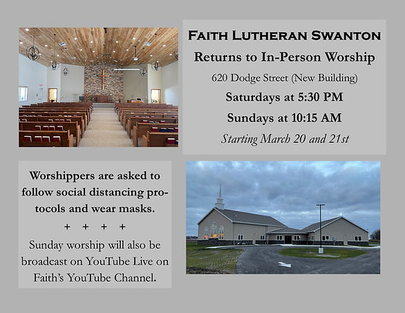 In Person Worship Return Announcement Sp