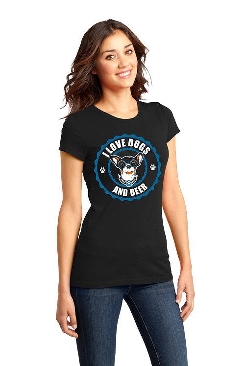 I Love Dogs & Beer Women's Tshirt