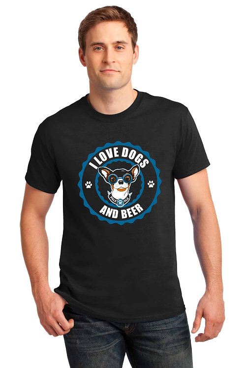 I Love Dogs and Beer Men's/ Unisex Tshirt