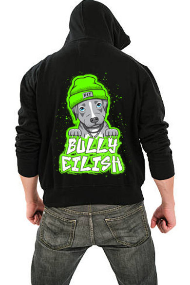 PRE-ORDER Bully Eilish Men's/ Unisex Zip Front Hoodie