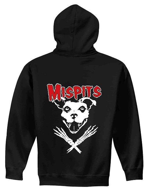 Mispits Men's/ Unisex Zip Front Hoodie