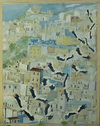 Storke over Chaouen malet 2020.jpg
