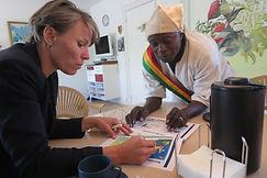 Borgmester Winnie Grosbøl møder Iks 2 samarbejdspartnere, Sidi karembé og Oumar Karembé.