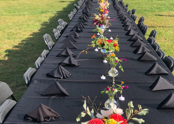The Farm created & rented all the arrangements for this community event