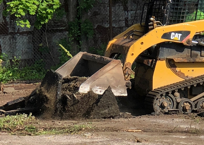 Digging up the parking lot