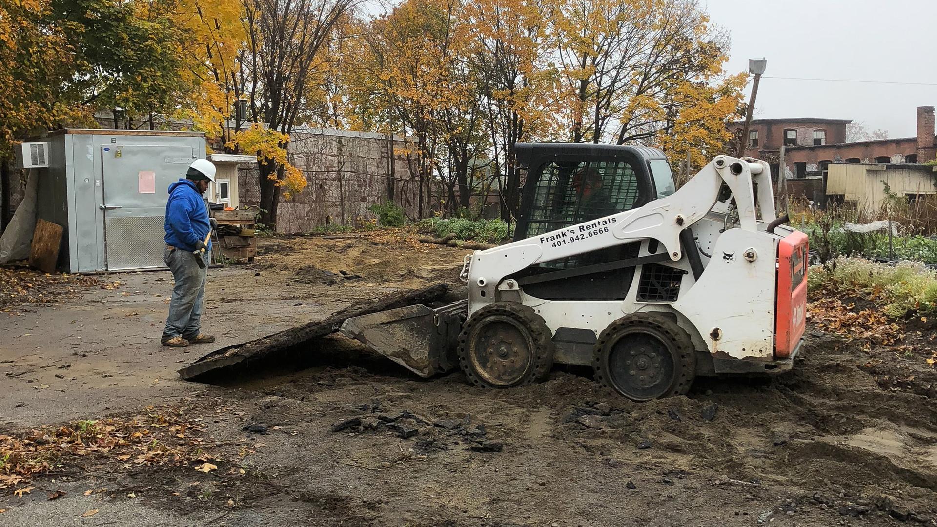 Removing asphalt