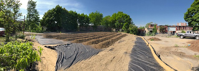 Newly built field