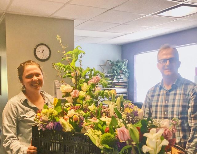 Delivering recycled flowers to moms in recovery at SStarbirth in Cranston