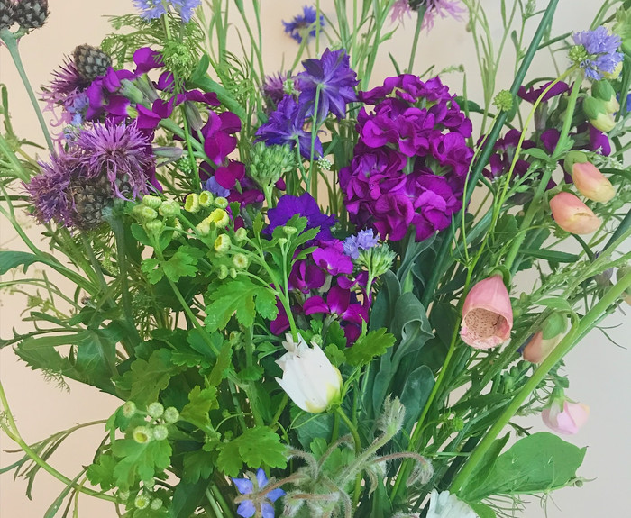 Our first bouquet donated to charity June 2018