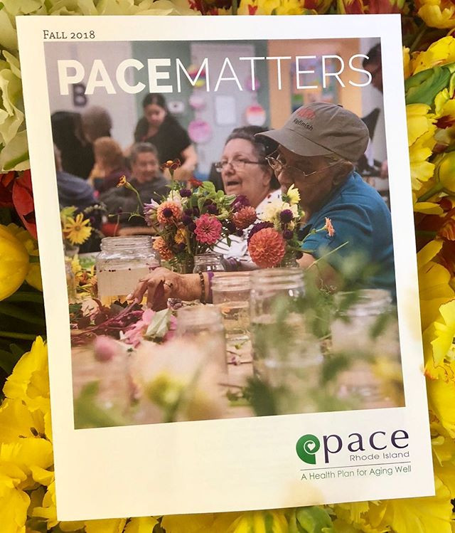 PACE Organization put the Farm's flowers on their newsletter cover!