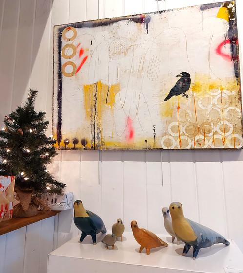 Oiseaux de Sara en galerie