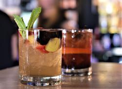 Drinks - Bourbon Sangria and Old Fashion