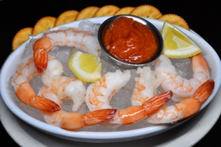 Appetizer - Shrimp Cocktail - black back