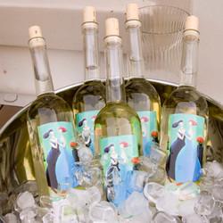 gekoelde witte wijn