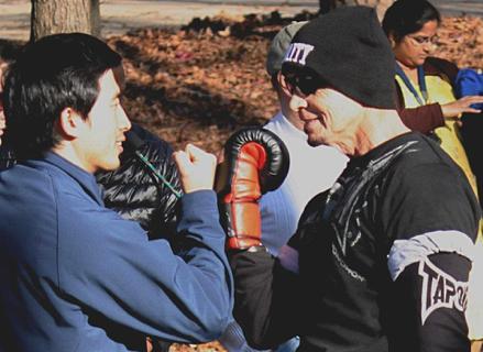 adult tae kwon do training