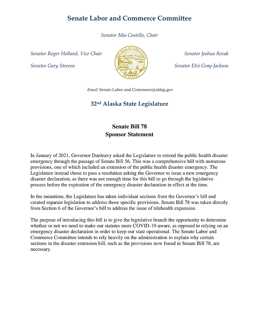 SB 78    —    Health Care Services By Telehealth