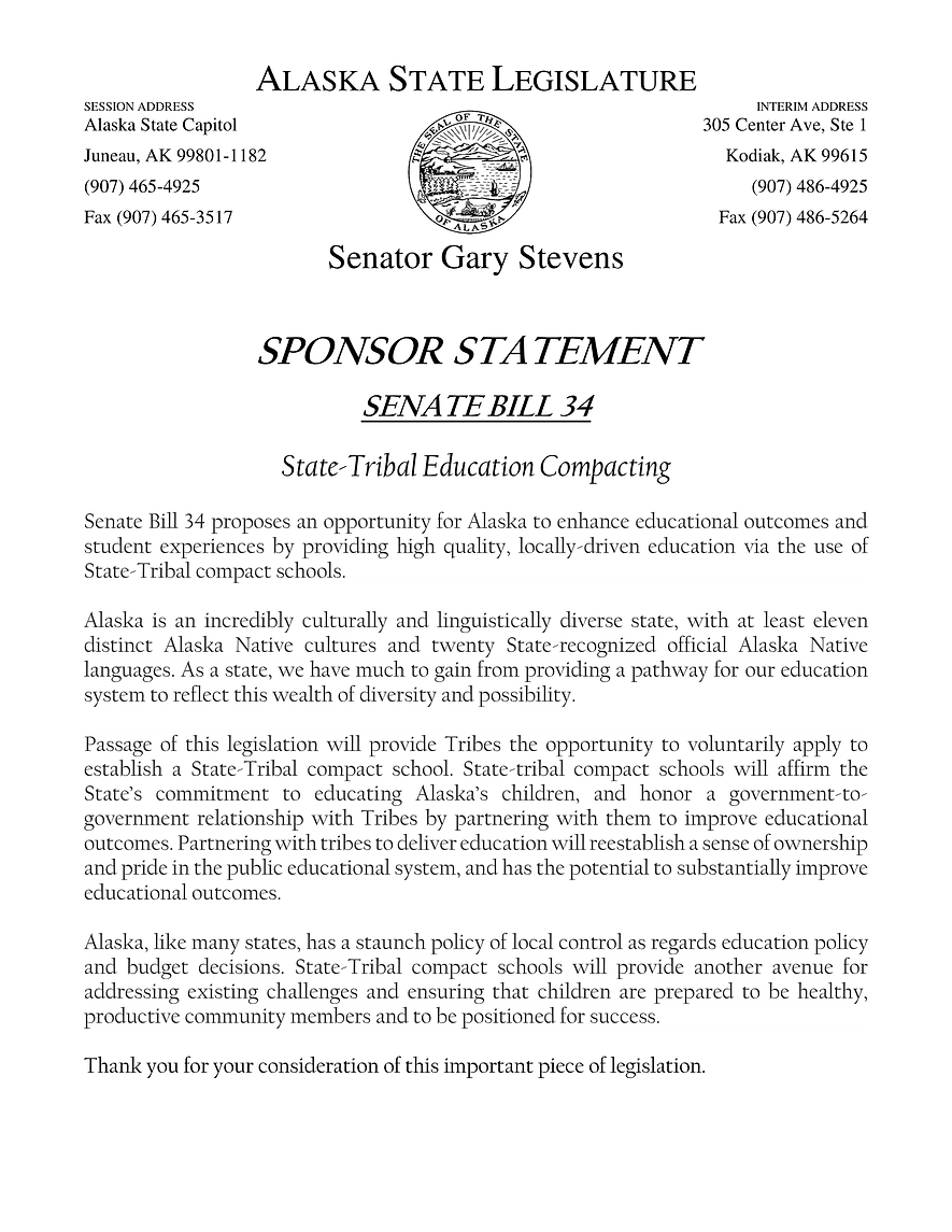 SB 34    —    State-Tribal Education Compact Schools