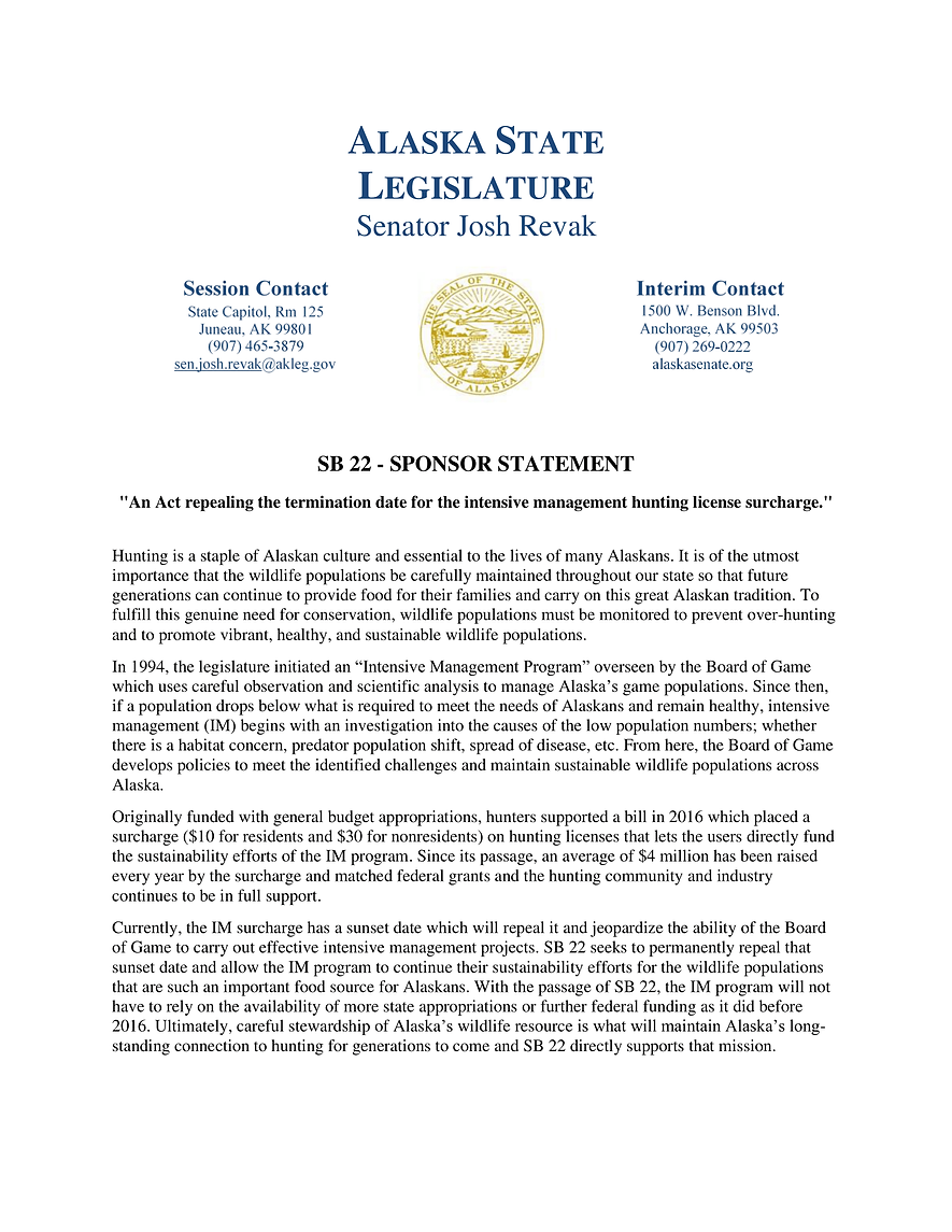 SB 22    —    Intensive Mgmt Surcharge/Repeal Term Date
