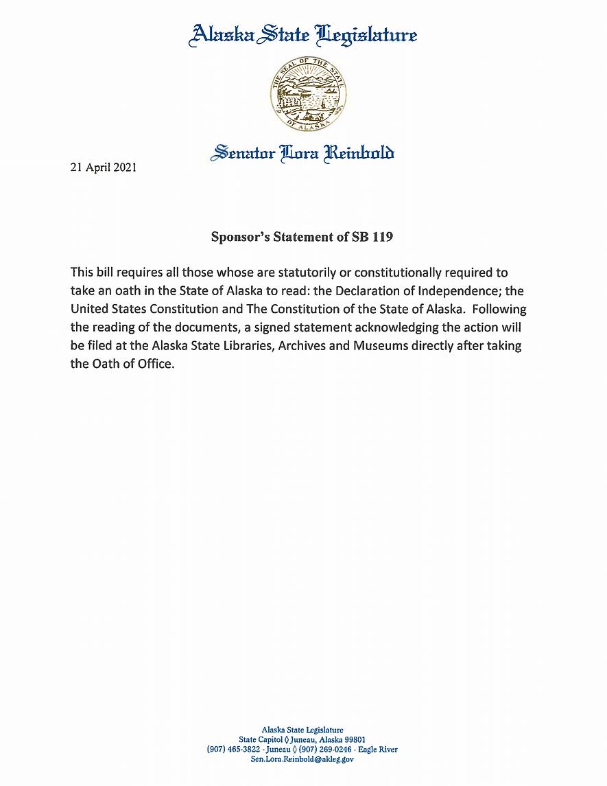 SB 119    —    Oath Of Office