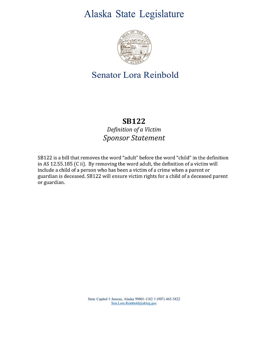 SB 122    —    Victim Definition