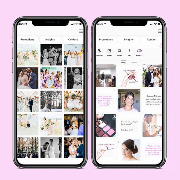 KB Hair and Makeup Social Media